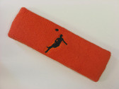 Dark orange custom headbands sports sweat terry
