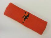 Dark orange custom sport headband sweat terry