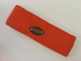 Dark orange custom headband sport sweat terry