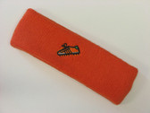 Dark orange custom sport sweat headband terry