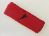 Red custom headbands sports sweat terry
