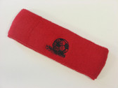 Red custom sport headbands sweat terry