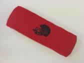 Red custom sport sweat head band terry