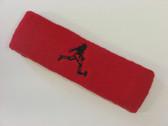 Red custom terry headband sports sweat