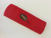 Red custom terry head band sports sweat