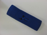Blue custom sport head band sweat terry