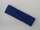 Blue custom sport sweat headbands terry