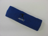 Blue custom sports headband sweat terry