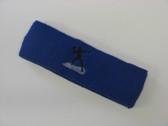 Blue custom sports headband sweat terry