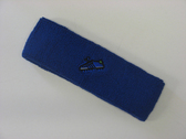 Blue custom sport sweat headband terry