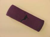 Purple custom headbands sports sweat terry