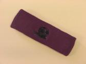 Purple custom sport headbands sweat terry