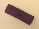 Purple custom sport sweat headband terry