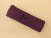 Purple custom sport head band sweat terry