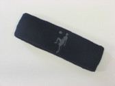 Navy custom sport headband sweat terry