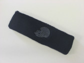 Navy custom sport sweat head band terry