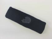Navy custom sport sweat head band terry