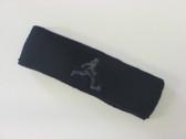 Navy custom terry headband sports sweat