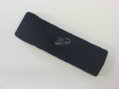 Navy custom sport sweat headband terry
