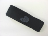 Black custom sport sweat head band terry
