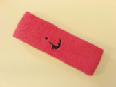 Brigth pink custom head band sports sweat terry