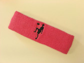 Bright pink custom sport headband sweat terry