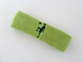 Lime green custom sport headband sweat terry