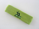 Lime green custom sport sweat headbands terry