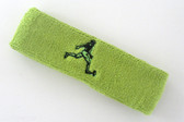 Lime green custom terry headband sports sweat