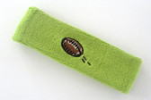 Lime green custom terry head band sports sweat