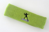 Lime green custom sports headband sweat terry