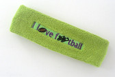Lime green custom terry headbands sports sweat
