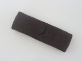 Brown custom headbands sports sweat terry