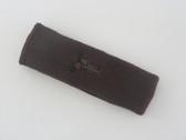 Brown custom sport head band sweat terry