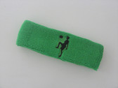 Bright green custom sport headband sweat terry