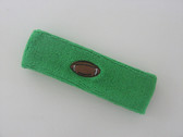 Bright green custom headband sport sweat terry