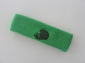 Bright green custom sport sweat head band terry