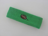 Bright green custom terry head band sports sweat