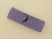 Lavender custom headbands sports sweat terry