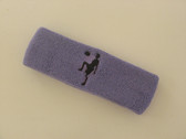 Lavender custom sport headband sweat terry