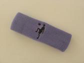 Lavender custom sport headband sweat terry