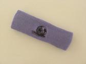 Lavender custom sport headbands sweat terry