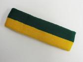 Dark green golden yellow 2color sport sweat headband