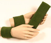 Olive army green headband wristband set for sports sweat