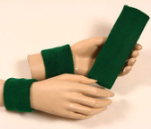 Dark green headband wristband set for sports sweat