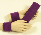 Purple headband wristband set for sports sweat