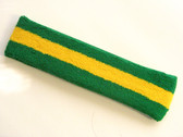 Green yellow green headbands sports pro