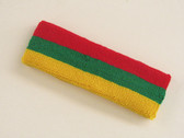 Red green golden yellow 3color striped headband for sports