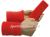 Dark orange sports sweat headband 4inch wristbands set