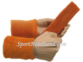 Tan sports sweat headband 4inch wristbands set